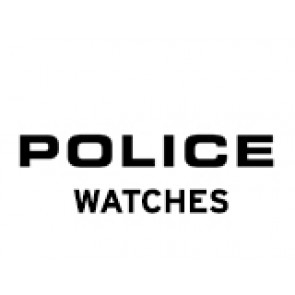 Police pulseira de relogio PL-14385J Couro Preto