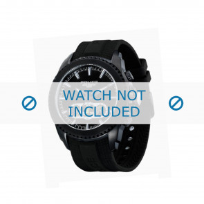 Police pulseira de relogio P-12076J/JSB/02 Borracha / plástico Preto