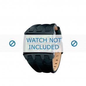Police pulseira de relogio PL-12079JSB-05A Couro Preto 36mm + costura marrom