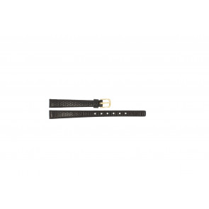 Pulseira de relógio Pulsar PS502X Couro Castanho escuro 10mm
