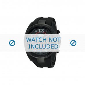Lorus pulseira de relogio PT3605X1 / VD53 X167 Borracha Preto
