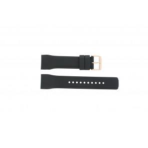 Pulsar pulseira de relogio W861-X006 / PQ2046X1 / PP255X / PQ2046X1 Borracha Preto 24mm