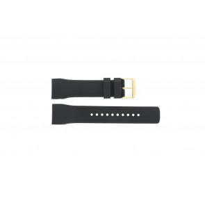 Pulsar pulseira de relogio W861-X006 / PQ2048X1 / PP256X Borracha Preto 24mm