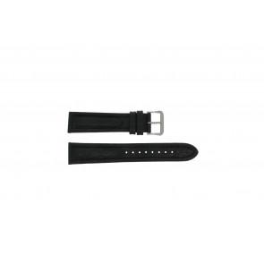 Pulsar pulseira de relógio Y182-6C10 Couro Preto 20mm