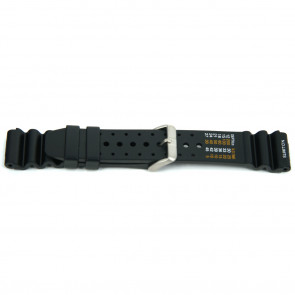 Pulseira de relógio Universal XF13 Borracha Preto 18mm