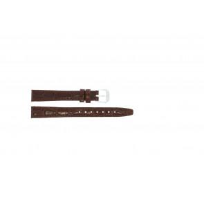 Bracelete em pele crocodilo verniz castanho 14mm 082
