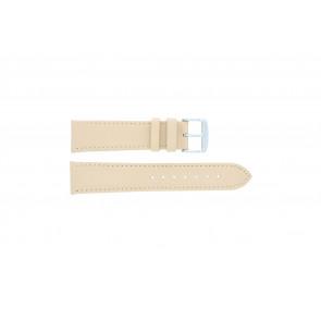 Bracelete em pele genuína salmão / ocre 24mm 283