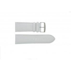 Bracelete em pele genuína branca 32mm