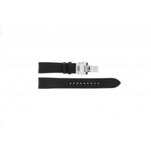 Pulseira de relógio Seiko 7D46-0AB0 / SNP015P1 Couro Preto 20mm