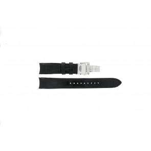 Pulseira de relógio Seiko 6G34-00E0 / SRL021P1 Couro Preto 21mm