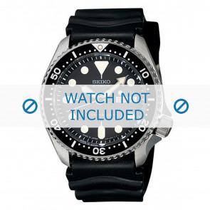 Seiko pulseira de relogio 7S26-0020-SKX007K1 Borracha Preto 22mm