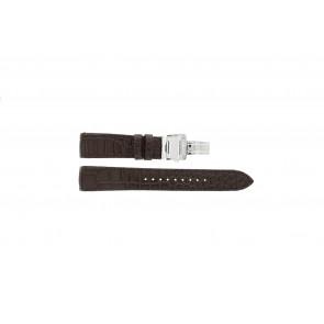 Pulseira de relógio Seiko 7T04-0AA0 / SPC059P1 / 4A071JL Couro Marrom 21mm