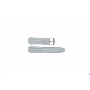 Pulseira de relógio Seiko 7T92-0HD0 / SND875P1 / 4LE7JB Couro Branco 16mm