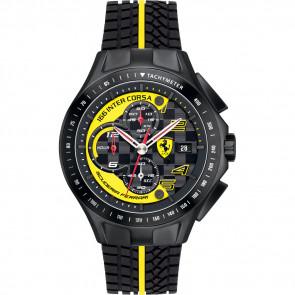Pulseira de relógio Ferrari SF.03.1.34.0054-Y Silicone Preto