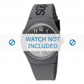 Superdry pulseira de relogio SYG198EE Plástico Cinza