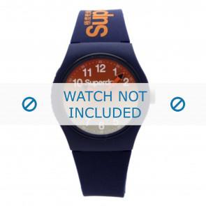 Superdry pulseira de relogio SYG198UO Plástico Azul