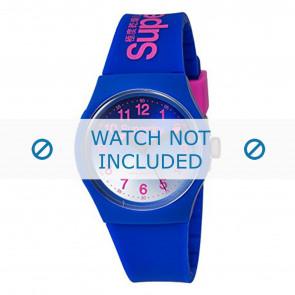 Superdry pulseira de relogio SYG198UU Plástico Azul