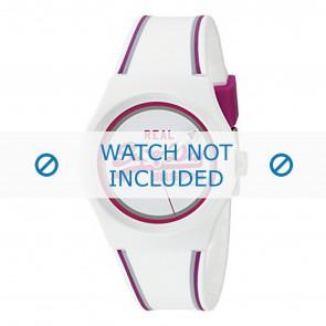 Superdry pulseira de relogio SYG198WR Plástico Branco