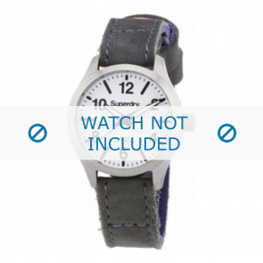 Pulseira de relógio Superdry SYL113E Couro Cinza 16mm