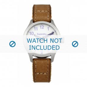 Pulseira de relógio Superdry SYL114TV / SYL114EU Couro Marrom 15mm
