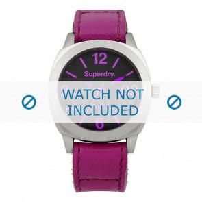 Pulseira de relógio Superdry SYL115V Couro Rosa 21mm