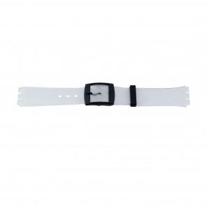 Pulseira de relógio Swatch 51.00 Borracha Branco 17mm