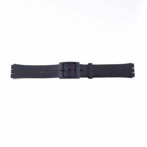 Swatch (substituição) pulseira de relógio PVK P51 Borracha / Plástico Preto 17mm