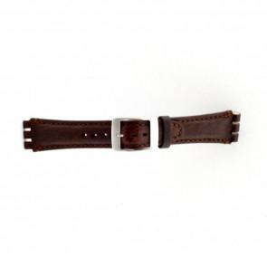 Pulseira de relógio Swatch (alt.) SC14.02 Couro Marrom 19mm