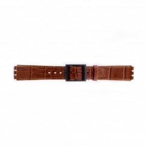 Pulseira de relógio Swatch (alt.) SC16.03 Couro Marrom 16mm