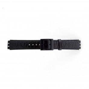 Pulseira de relógio Swatch (alt.) SC10.01 Couro Preto 17mm