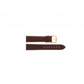 Tissot pulseira de relogio 970-122 T870 - T600013060 Couro croco Marrom 18mm