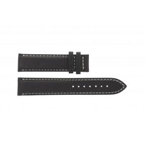 Tissot pulseira de relogio T014.410.16.037.00 - T610025416 Couro Castanho escuro 19mm + costura branca