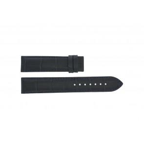 Tissot pulseira de relogio T055.417.16.047.00 - T610032786 / T055.410.16.047.00 Couro croco Azul 19mm + costura preto