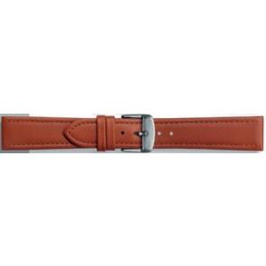 Bracelete em pele genuína castanho conhaque 24mm PVK-283