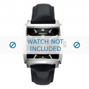 Pulseira de relógio Tag Heuer FC6171 / B28814 (B28814) Couro Preto