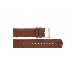 Tommy Hilfiger pulseira de relogio TH-248-1-14-1685 / TH679301739 Couro Marrom + costura marrom