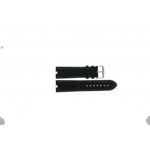 Tommy Hilfiger pulseira de relogio TH-38-1-14-0686 ALT 307.01 Couro Preto 24mm + costura branca
