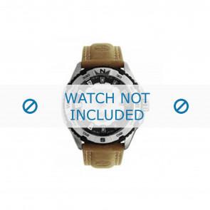 Timberland pulseira de relogio 13897JS-04 Couro Marrom 22mm + costura bege