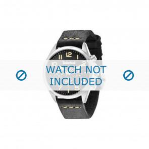 Timberland pulseira de relogio 14400JS-02 Couro Preto 22mm