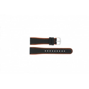 Timex pulseira de relógio T2N428 Couro Preto 22mm