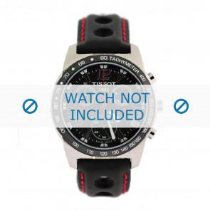 Tissot pulseira de relogio J378-478 PR-50 - T600020323 Couro Preto 19mm + costura vermelha
