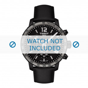 Tissot pulseira de relogio T095.417.36.057.02 - T600035372 Couro Preto 19mm