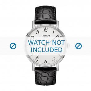 Tissot pulseira de relogio T109.410.16.032.00 - T600039639 Couro croco Preto 19mm + costura preto
