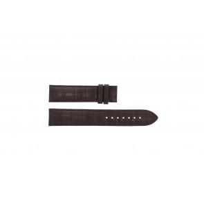 Tissot pulseira de relogio T065.430.A - T610029096 / T065.430.160.310.0 Couro croco Marrom 19mm