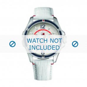 Tommy Hilfiger pulseira de relogio TH-78-3-18-0793 / TH1780861 Couro Branco + costura branca