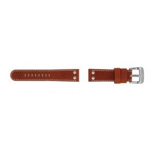 TW Steel pulseira de relógio TW24 Couro Castanho 22mm