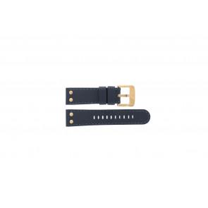 TW Steel pulseira de relógio TWB404-405 Couro Azul 24mm + costura azul