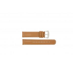 Pulseira de relógio Seiko V172-0AG0 / SSC081P1 / L088011J0 Couro Marrom 21mm