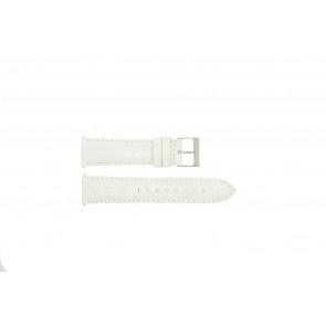 Guess pulseira de relógio W85053G2 / W10558L1 Couro Branco 22mm