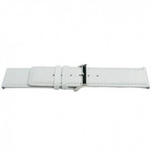 Pulseira de relógio Universal J505 Couro Branco 26mm
